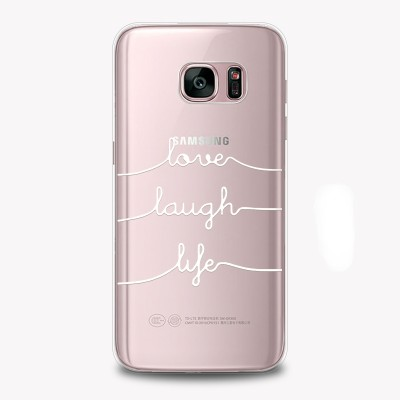 "Husa Samsung Galaxy S8 Plus ""LOVE LAUGH LIFE"""