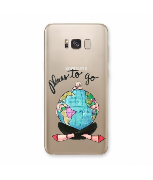 "Husa Samsung Galaxy S8 Plus ""PLACES TO GO"""