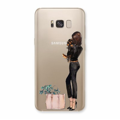 Husa Samsung Galaxy S8 Plus Silicon Premium BLACK ON BLACK