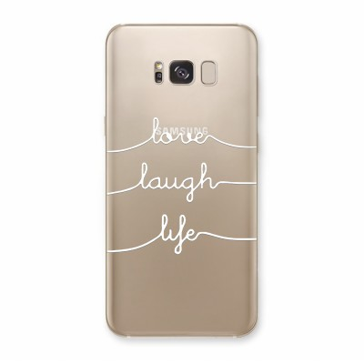 Husa Samsung Galaxy S8 Silicon Premium LOVE LAUGH LIFE