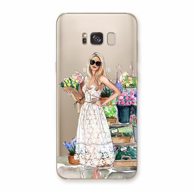 Husa Samsung Galaxy S8 Plus Silicon Premium FLOWERS MAKE ME SMILE