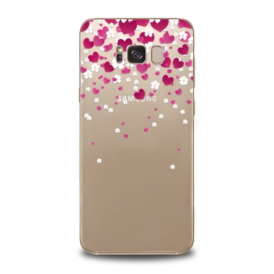 Husa Samsung Galaxy S8 Silicon Premium LOVE AND FLOWERS