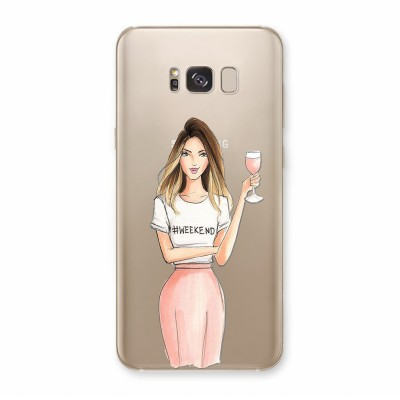 Husa Samsung Galaxy S8 Plus Silicon Premium WEEKEND AND ROSE