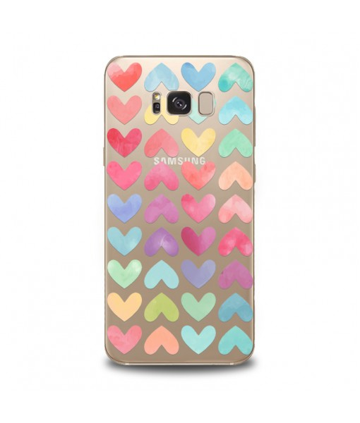 Husa Samsung Galaxy S8 Silicon Premium HEARTS AND COLORS