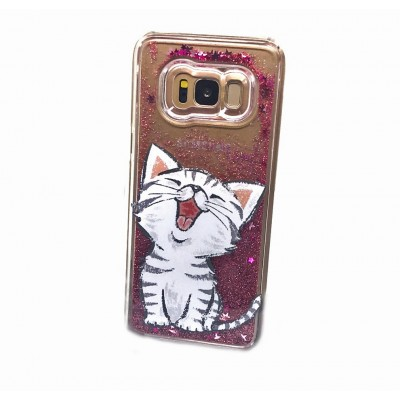 Husa Samsung Galaxy S8 Sclipici Lichid HAPPY KITTY