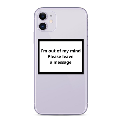 Husa iPhone OUT OF MY MIND