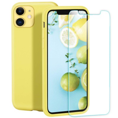 Husa iPhone SILICON CATIFELAT GALBEN