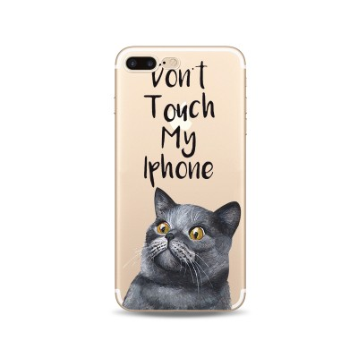 Husa iPhone 7Plus / iPhone 8Plus Silicon Premium DON'T TOUCH MY IPHONE