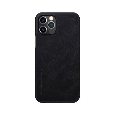 Husa Flip Cover Book Premium Nillkin Qin iPhone 12 Pro Max, Negru