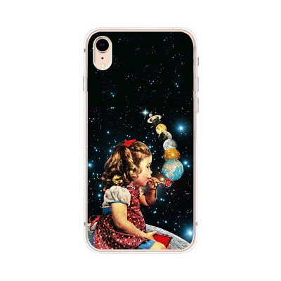 Husa iPhone XR Silicon Premium GALAXY BUBBLES