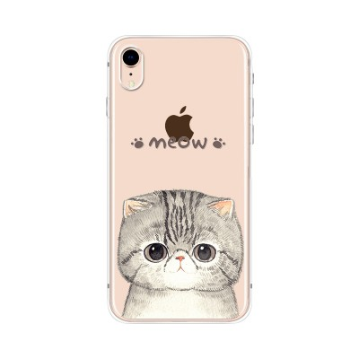Husa iPhone XR Silicon Premium MEOW