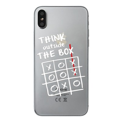 "Husa iPhone Xs Max ""THINK OUTSIDE THE BOX"""