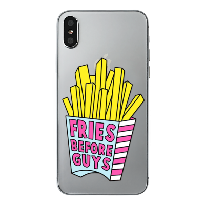 "Husa iPhone X ""FRIES BEFORE GUYS"""