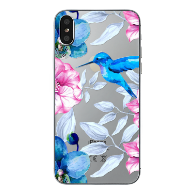 "Husa iPhone X / iPhone Xs ""HUMMINGBIRD TOUCH"""