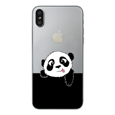 "Husa iPhone X ""PANDA SAYS HI"""