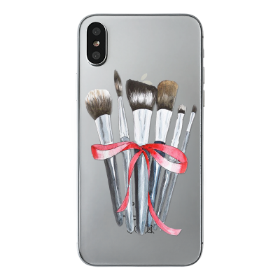 "Husa iPhone X ""MAKEUP BRUSHES"""
