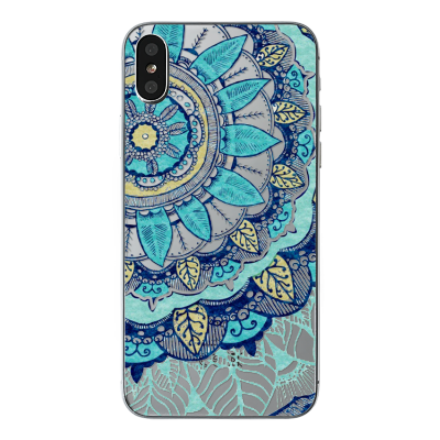 "Husa iPhone X ""BLUE PASTEL FLOWER"""