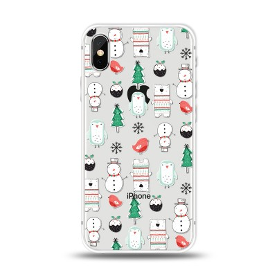"""Husa iPhone X / iPhone Xs """"A MERRY CHRISTMAS PATTERN"""""""