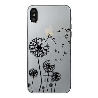 "Husa iPhone X ""DANDELION - WHITE INK"""