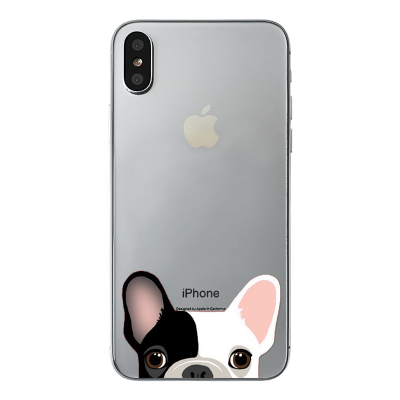 "Husa iPhone X ""SPOTTED FRENCHIE"""
