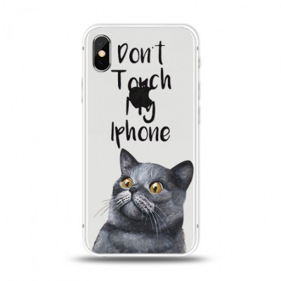 "Husa iPhone Xs Max ""DON'T TOUCH MY IPHONE"""