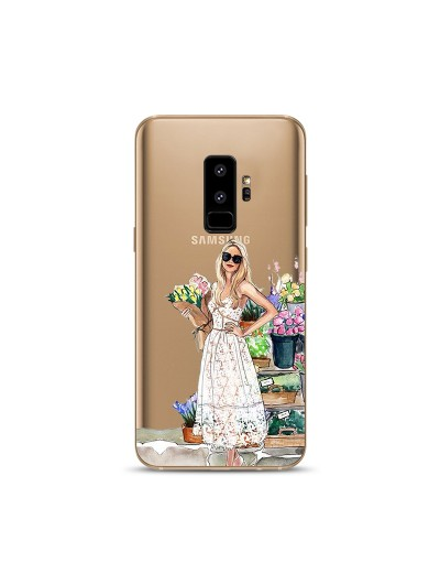Husa Samsung Galaxy S9 Plus Silicon Premium FLOWERS MAKE ME SMILE