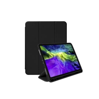 Husa Mercury Flip Case Pentru Apple Ipad Pro 12.9 Inch Model 2018 Negru Cu Suport De Pen