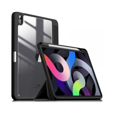 Husa Premium Infiland Crystal Compatibila Cu Apple Ipad Air 4 ( 2020 ), Negru