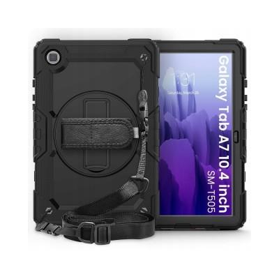 Husa Tableta Tech Solid 360 Compatibila Cu Samsung Galaxy Tab A7 10.4inch, Model T500/t505, Negru