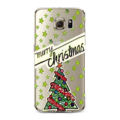 "Husa Samsung Galaxy S6 Edge ""MERRY CHRISTMAS"""
