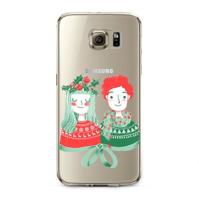 "Husa Samsung Galaxy S6 Edge ""CHRISTMAS COUPLE"""