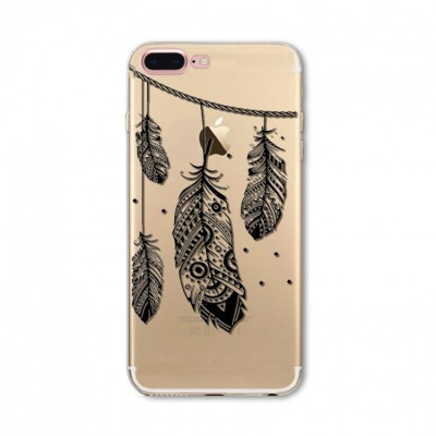 "Husa iPhone 7Plus / iPhone 8Plus ""INDIAN FEATHERS"""