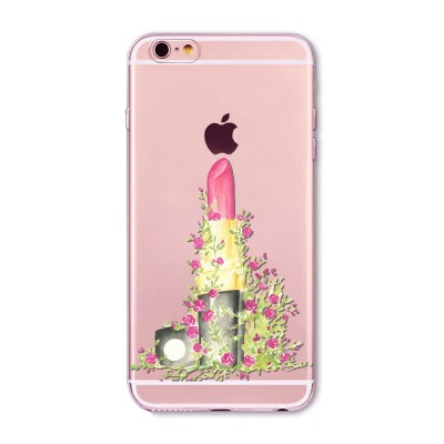 "Husa iPhone 6 / 6S ""FLOWER LIPSTICK"""