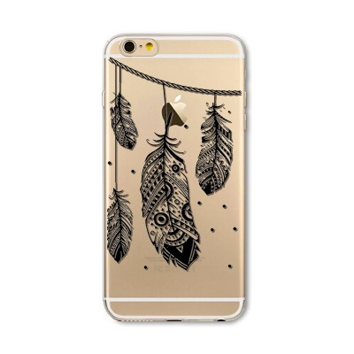 Husa iPhone 7 / iPhone 8 Silicon Premium INDIAN FEATHERS
