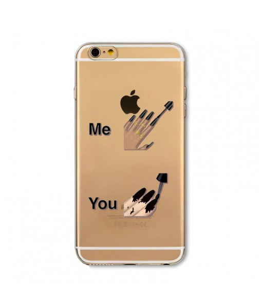 """Husa iPhone 6 / 6S """"ME vs YOU NAILS"""""""