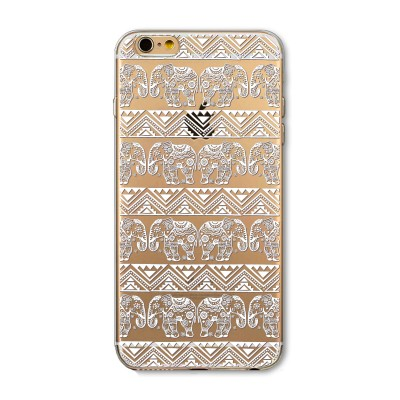 "Husa iPhone 6 / 6S ""HENNA ELEPHANT PATTERN"""