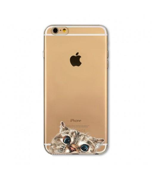 """Husa iPhone 6 / 6S """"CURIOUS CAT"""""""