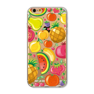 "Husa iPhone 6 / 6S ""FRUITS AND COLORS"""