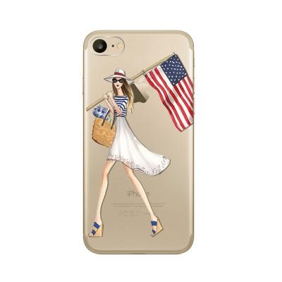 Husa iPhone 7 / iPhone 8 Silicon Premium USA FLAG