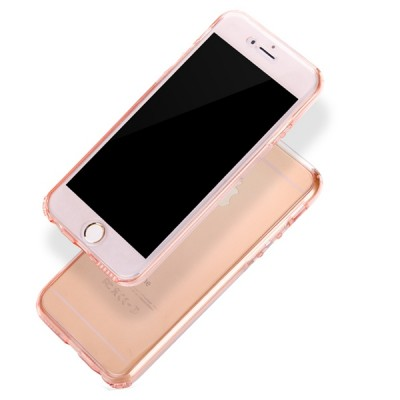 "Husa iPhone 7Plus / iPhone 8Plus ""CRYSTAL CLEAR PINK 360° PROTECTION"""