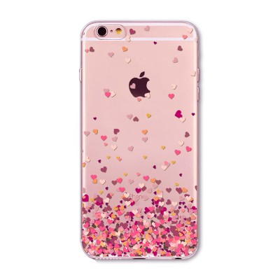 "Husa iPhone 6 / 6S  ""PINK HEARTS"""