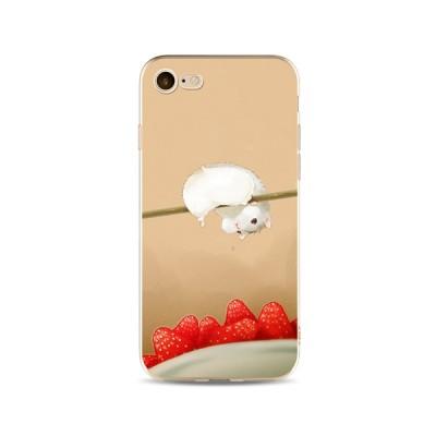 "Husa iPhone 7 / iPhone 8 ""CHIPMUNK LOVES STRAWBERRIES"""